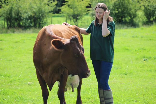 Emma Robinson with cow
