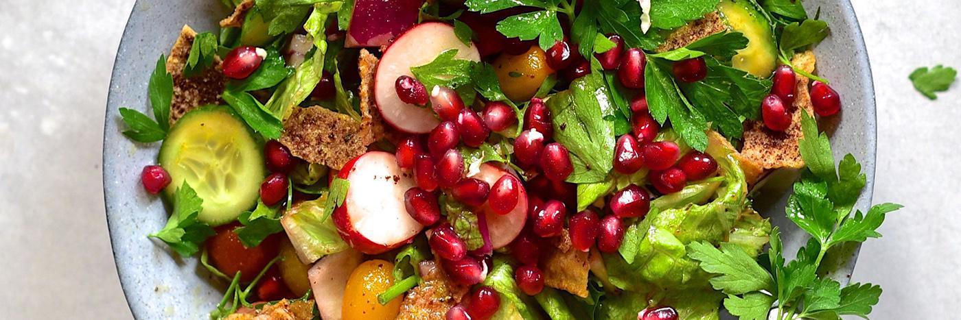 Salad in a jar: Fattoush