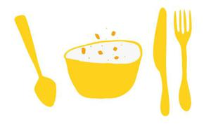 Bowl and spoon illustration