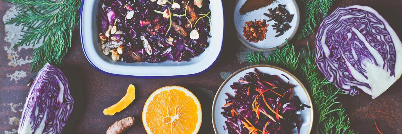 Zingy quick-pickled cabbage with fresh ginger and turmeric
