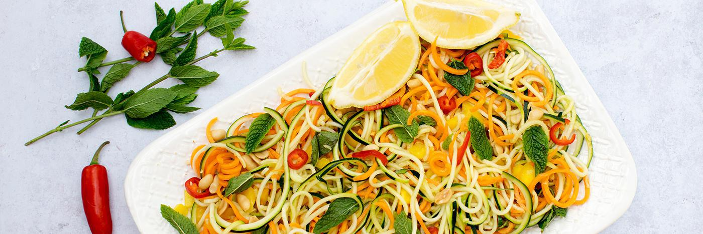 Courgette & carrot noodle salad