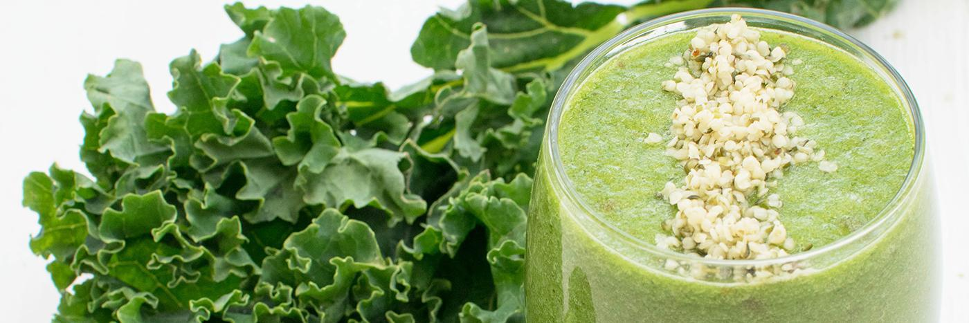 Melon, kale and broccoli smoothie