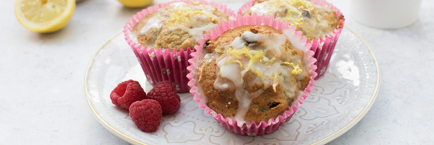 Lemon courgette muffins